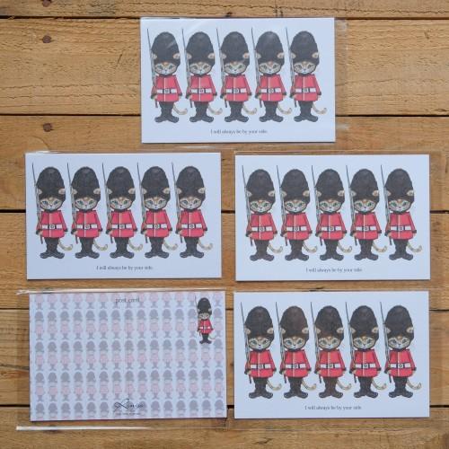 日本雙面明信片-倫敦貓士兵
