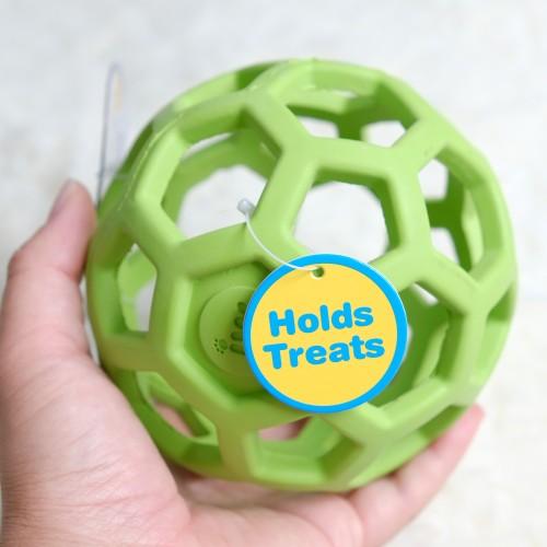 美國JW 天然橡膠洞洞球(M)  寵物益智玩具
