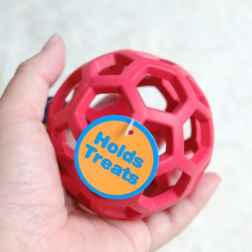 美國JW 天然橡膠洞洞球(S)  寵物益智玩具