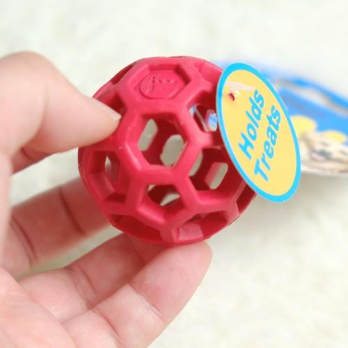 美國JW 天然橡膠洞洞球(XS)  寵物益智玩具