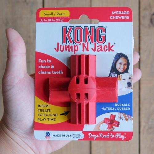 美國KONG Jump'N Jack / 十字益智玩具(S)
