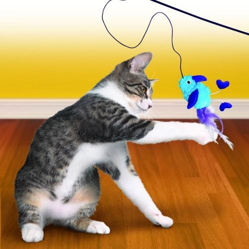 美國KONG 互動玩具 鳥羽逗貓棒