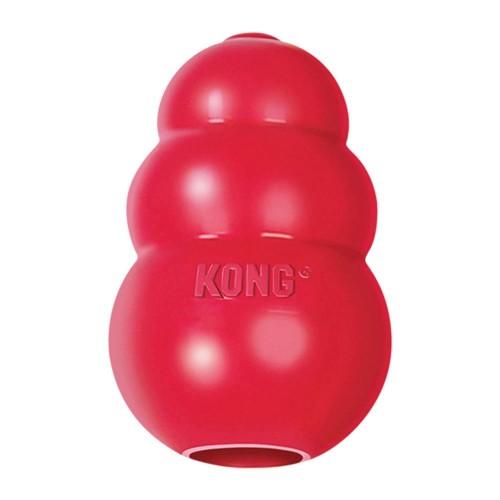 美國KONG Classic 紅色經典葫蘆抗憂鬱玩具(M)  寵物益智玩具